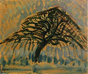 Piet Mondrian - Study for Blue Apple Tree Series