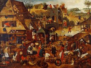 Pieter Bruegel The Younger - Flemish Proverbs