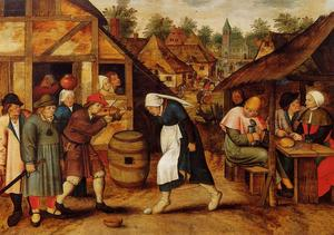 Pieter Bruegel The Younge.. - The Egg Dance