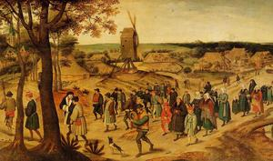 Pieter Bruegel The Younger - The Wedding Procession