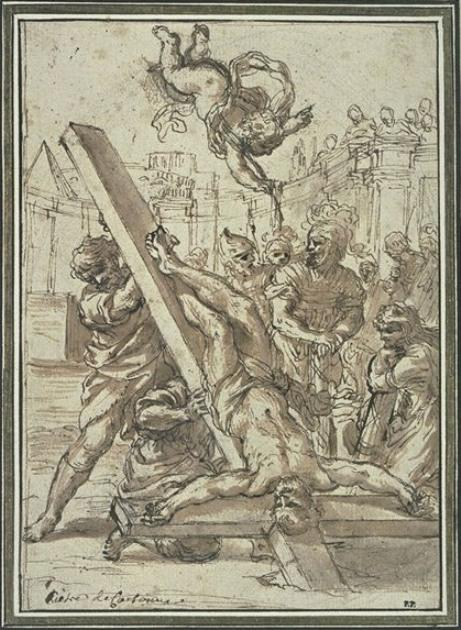 The Martyrdom of St. Peter by Pietro Da Cortona (1596-1669, Italy)