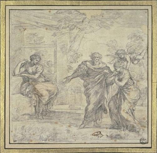 The return of Hagar 1 by Pietro Da Cortona  (order Fine Art Framed Giclee Pietro Da Cortona)