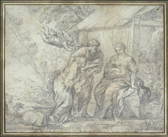 The return of Hagar by Pietro Da Cortona (1596-1669, Italy)