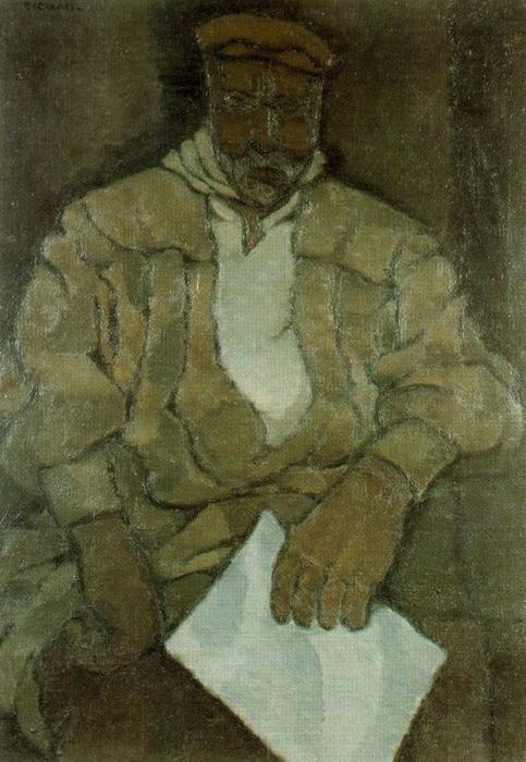 Portrait of Correo by Rafael Barradas (1890-1929, Uruguay) | Museum Art Reproductions | ArtsDot.com