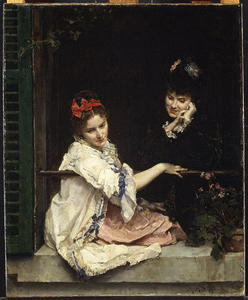 Raimundo De Madrazo Y Garreta - Girls at a Window