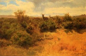 Rosa Bonheur - Stag and Doe in a Landscape