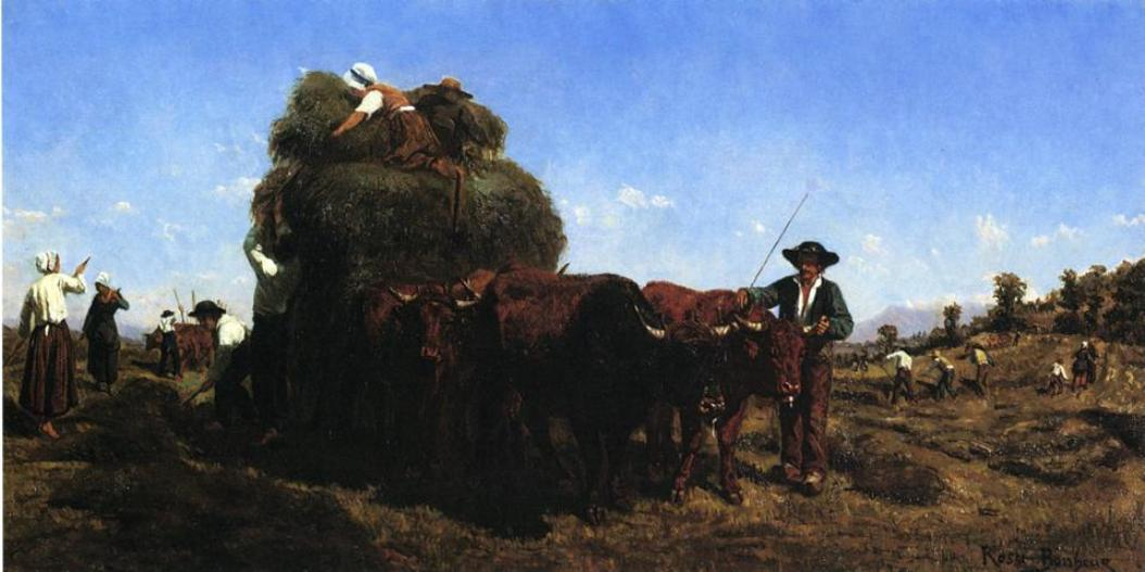 The Return from the Harvest by Rosa Bonheur (1822-1899, France) | Painting Copy | ArtsDot.com