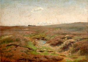 Rosa Bonheur - The small lake in the plain and a flock of sheeps