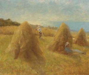 George Clausen - Haystacks