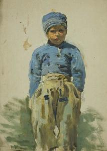 George Clausen - Study of a young Dutch boy