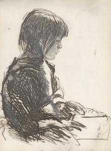 George Clausen - Study of a young girl