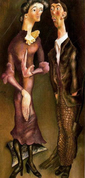 Beatitude 7. Romantic Meeting by Stanley Spencer (1891-1959, United Kingdom) | Museum Quality Reproductions | ArtsDot.com