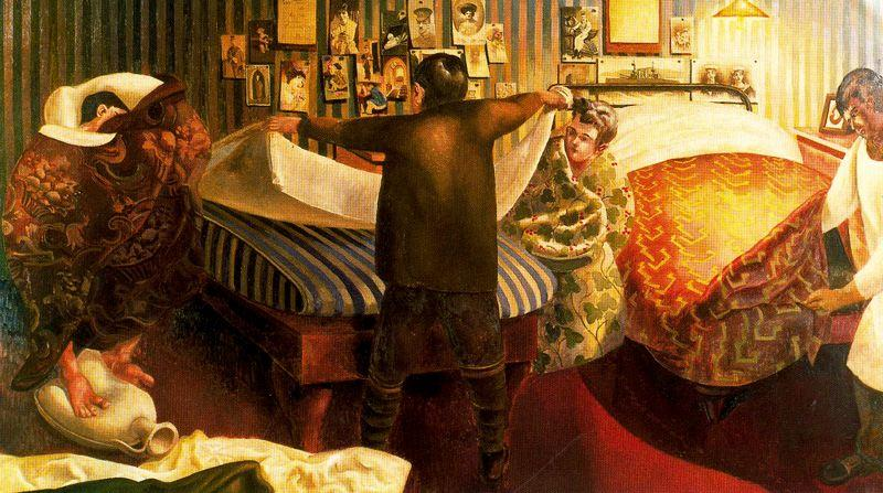 Bed Making by Stanley Spencer (1891-1959, United Kingdom)