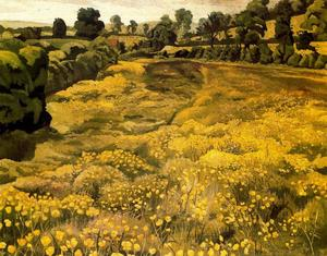 Stanley Spencer - Buttercups in a Meadow