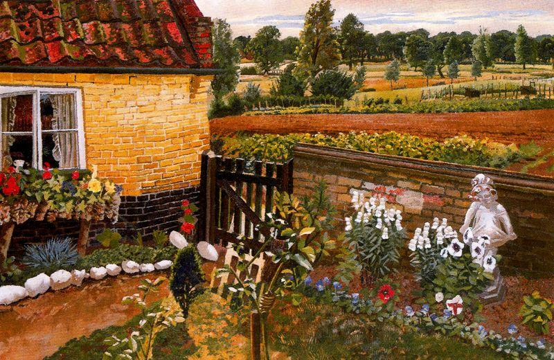 Cottage at Wangford by Stanley Spencer (1891-1959, United Kingdom)