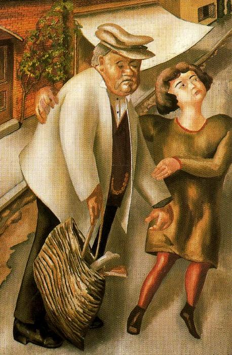 Crossing the Road by Stanley Spencer (1891-1959, United Kingdom)