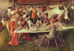 Stanley Spencer - Dinner on the Hotel Lawn