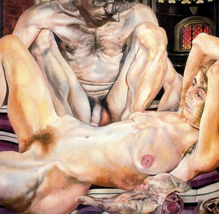 Double Nude Portrait. The Artist and his second wife or The leg of mutton nude by Stanley Spencer (1891-1959, United Kingdom)