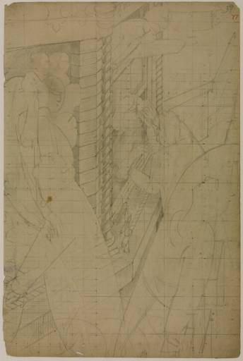 Drawing for Left Panel of `Resurrection. Waking Up' by Stanley Spencer (1891-1959, United Kingdom)