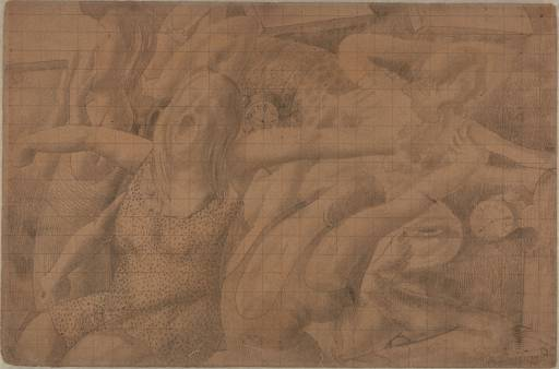 Drawing for Right Panel of `Resurrection. Waking Up` by Stanley Spencer (1891-1959, United Kingdom) | Art Reproduction | ArtsDot.com