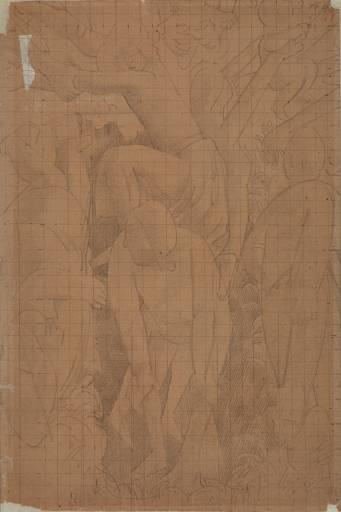 Drawing for Right Section of `Resurrection. Port Glasgow' by Stanley Spencer (1891-1959, United Kingdom)