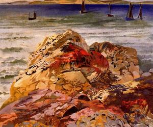 Stanley Spencer - Fishing Boats. St Ives