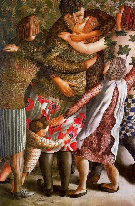 Hilda Welcomed by Stanley Spencer (1891-1959, United Kingdom)