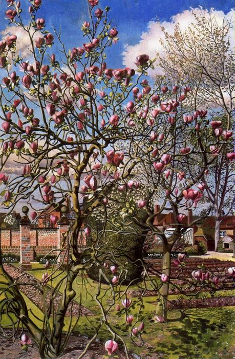 Landscape with Magnolia. Odney club by Stanley Spencer (1891-1959, United Kingdom)