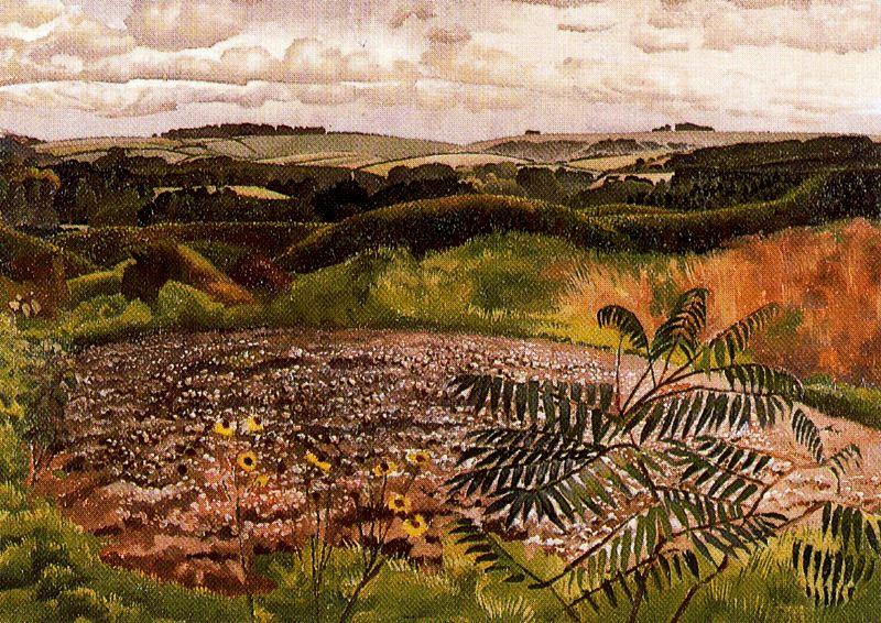 Landscape. Burghclere by Stanley Spencer (1891-1959, United Kingdom) | ArtsDot.com