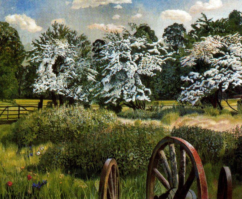 Marsh Meadows. Cookham by Stanley Spencer (1891-1959, United Kingdom) | ArtsDot.com