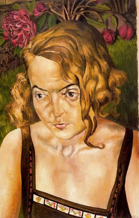 Portrait in a garden by Stanley Spencer (1891-1959, United Kingdom) | ArtsDot.com