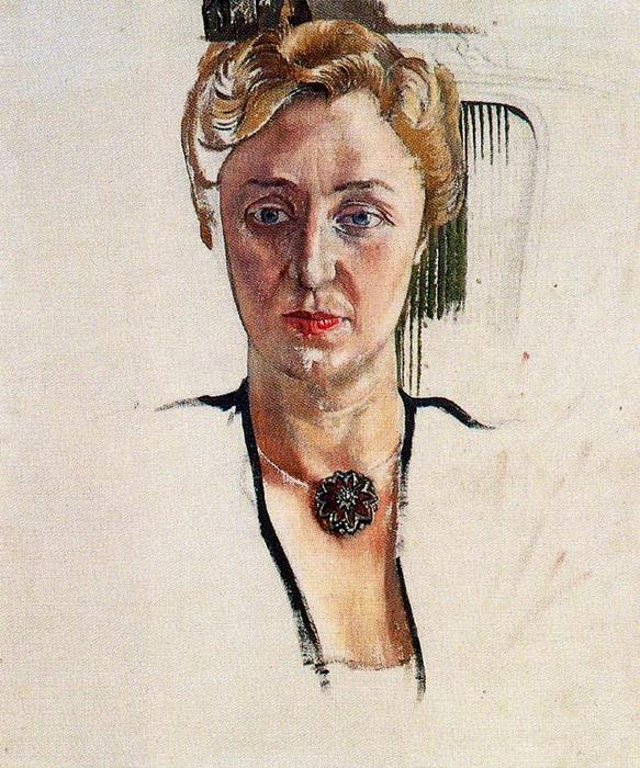 Portrait of Anny Lewinter Frankl by Stanley Spencer (1891-1959, United Kingdom) | Museum Quality Reproductions | ArtsDot.com