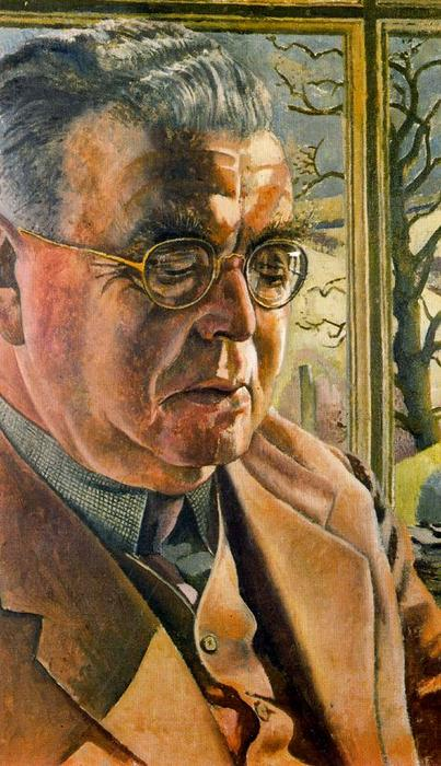 Portrait of J.L. Behrend by Stanley Spencer (1891-1959, United Kingdom)