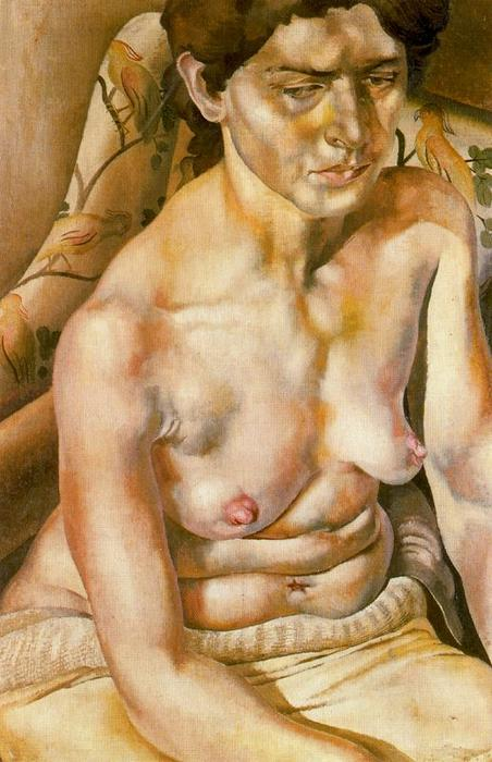 Seated Nude by Stanley Spencer (1891-1959, United Kingdom)
