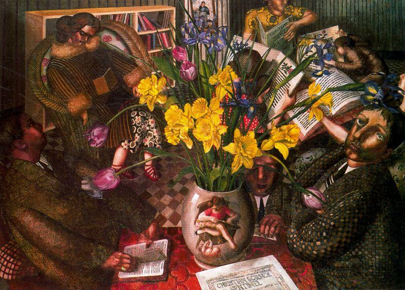 Silent Prayer by Stanley Spencer (1891-1959, United Kingdom) | ArtsDot.com