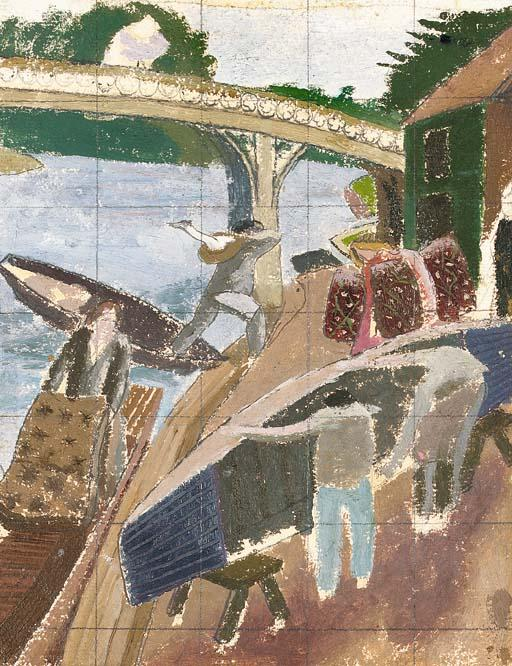 Study for Swan Upping at Cookham by Stanley Spencer (1891-1959, United Kingdom) | ArtsDot.com