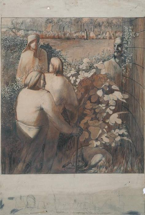 Study for `Joachim among the Shepherds' by Stanley Spencer (1891-1959, United Kingdom)