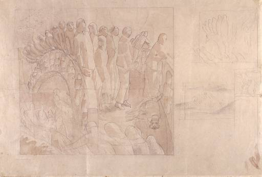 Study for `The Bridge` by Stanley Spencer (1891-1959, United Kingdom) | Painting Copy | ArtsDot.com
