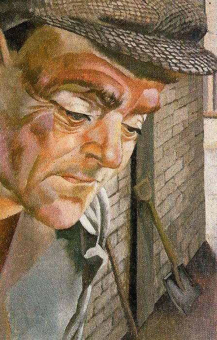 The Furnace Man by Stanley Spencer (1891-1959, United Kingdom)