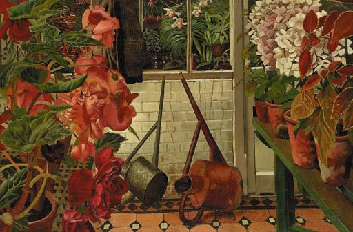 The Greenhouse by Stanley Spencer (1891-1959, United Kingdom) | Art Reproduction | ArtsDot.com