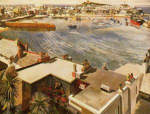 Stanley Spencer - The Harbour. St Ives