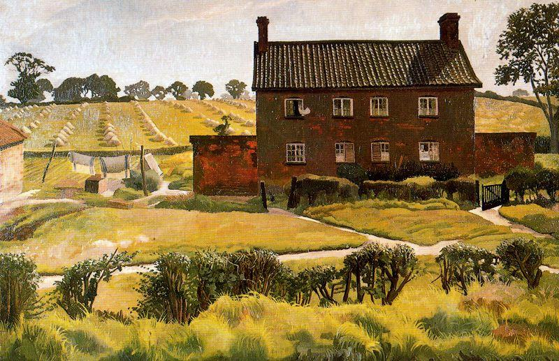 The Red House. Wangford by Stanley Spencer (1891-1959, United Kingdom) | Oil Painting | ArtsDot.com