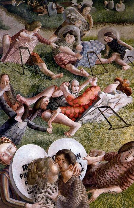 The Resurrection. Reunion 2 by Stanley Spencer (1891-1959, United Kingdom) | Painting Copy | ArtsDot.com