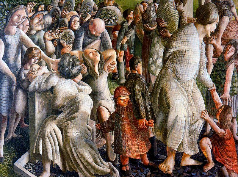 The Resurrection. Reunion of Families by Stanley Spencer (1891-1959, United Kingdom)