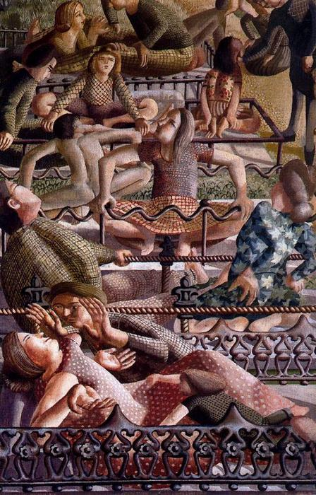 The Resurrection. Reunion by Stanley Spencer (1891-1959, United Kingdom) | ArtsDot.com
