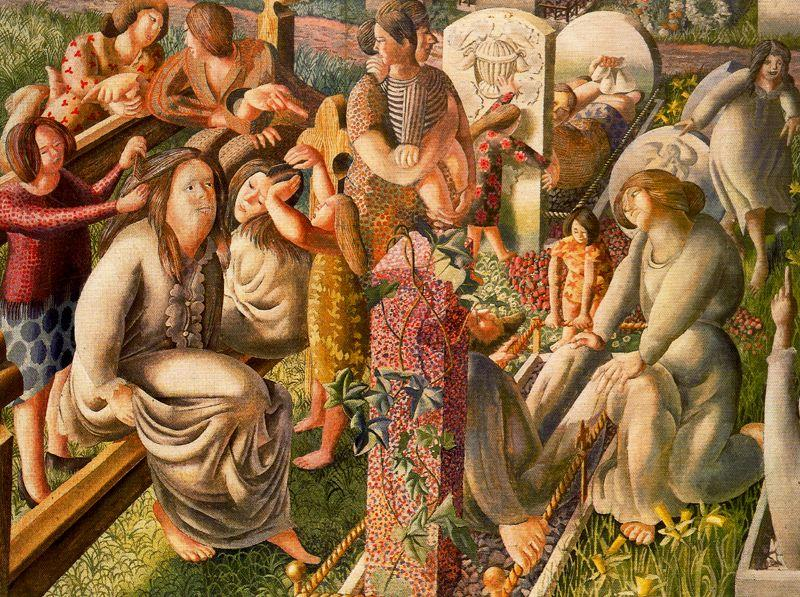 The Resurrection. Tidying by Stanley Spencer (1891-1959, United Kingdom)