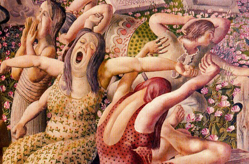 The Resurrection. Wakin up by Stanley Spencer (1891-1959, United Kingdom)