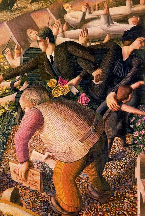 The Resurrection. Waking up 1 by Stanley Spencer (1891-1959, United Kingdom)