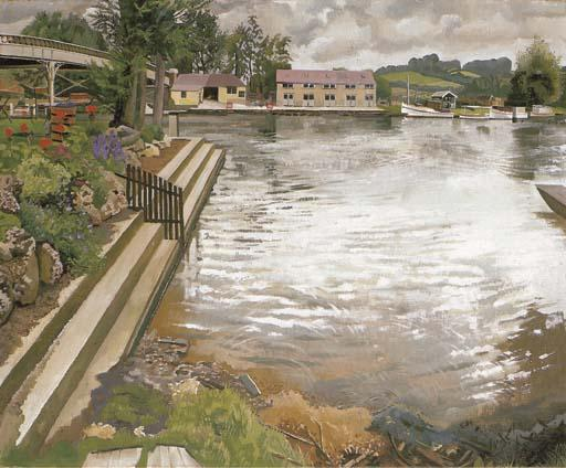 The Wharf, Cookham by Stanley Spencer (1891-1959, United Kingdom) | Art Reproduction | ArtsDot.com