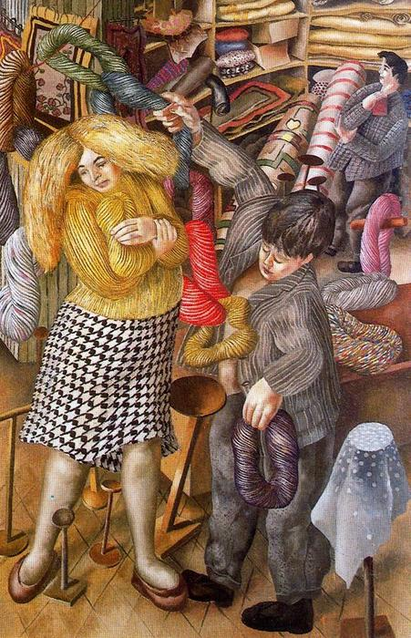 The Woolshop by Stanley Spencer (1891-1959, United Kingdom)
